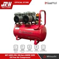 Mitsushi MIT-6002-50L  50Liters 600W 220V Oil Free Air Compressor