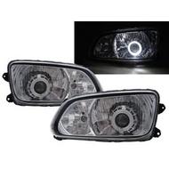 0218卡嗶車燈 HINO日野 500 2008-present 兩門車 光導LED天使眼光圈魚眼 大燈 電鍍