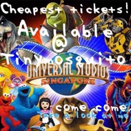 [PARK IS OPENED] Universal Studio Singapore 1 day pass! Open dated E-ticket