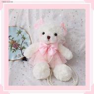 小後背包 雙肩包 ❀卍原創Lolita洛麗塔手作熊改包小熊包斜挎包雙肩包軟妹可愛lo娘包