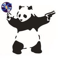 【hot sell】 Car Styling Decal Reflective Waterproof Fashion Car Panda Sticker