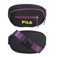 FILA 復古斜跨腰包-臀包 斜背包 側背包 慢跑 黑紫黃@BWU-3016-PL@