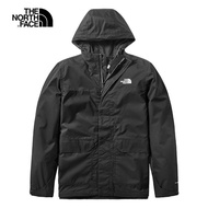 【The North Face】The North Face北面男款黑色防水透氣戶外衝鋒衣|497JJK3