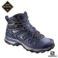 Salomon 寬楦中筒登山鞋 GORETEX防水 女 X ULTRA 3藍