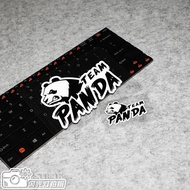 Card Temple Car Stickers✨Creative Japanese JDM Modified Reflective Stickers Panda Body Decoration
