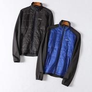 =86號店=英國HI-TEC 防風防潑水面料 方形車格 鋪棉裡 男立領長袖外套 藍/黑如圖共2色