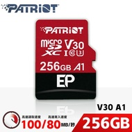 【PATRiOT 博帝】EP MicroSDXC UHS-1 U3 V30 A1 256G 記憶卡(PEF256GEP31MCX)