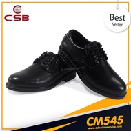 รองเท้านักเรียนนักศึกษา รองเท้าหนังสีดำ รองเท้าคัชชูแบบสวมผู้ชาย รองเท้าทำงาน รองเท้าทางการ ใส่สบาย ทรงสวย เรียบหรู ทนทาน CSB CM545