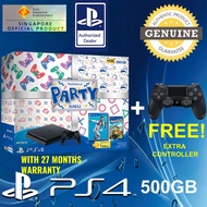 PS4 Playstation 4 Console Party Bundle (2 FREE GAMES INCLUDED, FIFA19 + OVERCOOKED 2) + EXTRA DUALSHOCK4 CONTROLLER