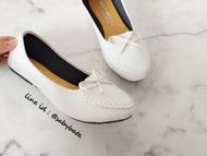 ⭐️ส่งทุกวัน⭐️ รองเท้าไซส์ใหญ่ Bigsize 40 -44 คัชชูสวมโบว์หนังนิ่ม รุ่นLondon รองเท้าผู้หญิงไซส์ใหญ่