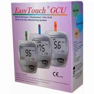 easy touch GCU alat tes gula darah alat cek darah kolesterol asam urat