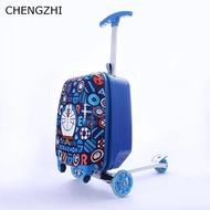 CHENGZHI 18นิ้วน่ารักการ์ตูนสำหรับกีฬาเด็กสกู๊ตเตอร์กระเป๋าเดินทางกระเป๋าเป้สะพายหลัง Rolling กระเป๋าเดินทางกระเป๋าเอกสารบนล้อ