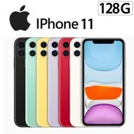 【Apple 蘋果】2019 iPhone 11 128G 6.1吋 智慧型手機《+玻璃保護貼+空壓殼+線保護套+無線充電板+懶人頸掛支架》