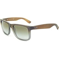 Rayban Sunglasses Justin RB4165 854/7Z RUBBER BROWN ON GREY GREEN GRADIENT