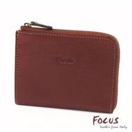 【FOCUS】義大利真皮L型短夾零錢包(FTA0089)