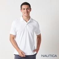Nautica經典純棉短袖POLO衫-白