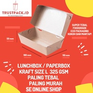 Lunch BOX PAPER Material KRAFT / Brown SIZE LARGE FULL Lamination SIZE L