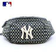 MLB洋基滿版黑色腰包-韓國正版專櫃直送-預購