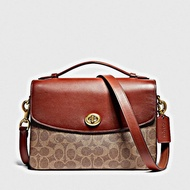 COACH Coated Canvas Signature Cassie Crossbody - B4/Tan Rust