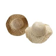 韓國可收折拉菲草編織草帽(1入) 駝色/米色【小三美日】附贈收納袋x1 D280001