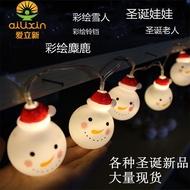 丹丹推薦 【現貨】 聖誕老人雪人電池燈串 麋鹿蠟燭led耶誕節裝飾燈串