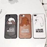 WE BARE BEARS Apple iPhone X Casing 6 / 6S / 7 / 8 Plus Back Cover Protector
