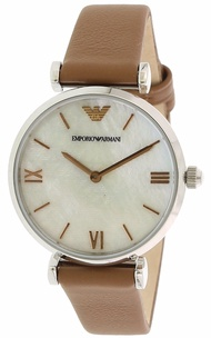 Emporio Armani Women's AR1988 Brown Leather Japanese Quartz Fashion Watch