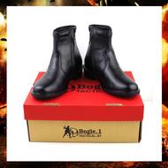 รองเท้าฮาฟ แบรนด์ Bogie.1 หนังขัด หนังวัวแท้ รองเท้าคอมแบท รองเท้าคัชชู สำหรับทหาร ตำรวจ ข้าราชการ (สีดำ)