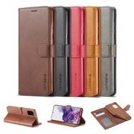 Samsung Galaxy A 71 A 51 Calf Grain Flip Cover Leather Case
