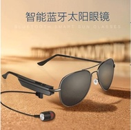 智慧眼鏡 智慧新款黑色藍牙眼鏡耳機MP3無線運動開車通話偏光太陽墨鏡時尚 99免運 全館免運
