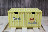 小熊維尼Winnie the Pooh貨櫃2抽盒,置物櫃/收納櫃/收納盒/抽屜收納盒/木製櫃/木製收納櫃/收納箱/桌上收納盒,X射線【C186533】