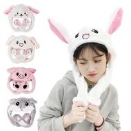 會動兔耳帽 耳朵會動的兔子帽 會動耳朵的帽子 會動的帽子 兔耳帽 抖音帽 氣囊帽