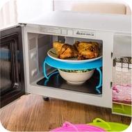 ●MY COLOR●微波爐分層支架 蒸架 電鍋 加熱 托盤 食物 大容量 雙層 隔熱 置物 鍋墊 鍋架【Q147】