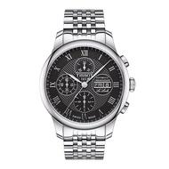 TISSOT天梭 T0064141105300  LE LOCLE 三眼復古簡約時尚腕錶 42.3mm