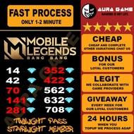 ㍿TOPUP DIAMOND MOBILE LEGEND TOP UP GAME ML LAJU FAST MURAH CHEAP NO 1