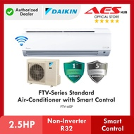 [ WIFI ] DAIKIN 2.5HP FTV Series Standard Non-Inverter Air Conditioner R32 Gas FTV60P Aircond Penghawa Dingin 冷气机