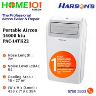 Harsons Portable Aircon 14000BTU PAC-14TK22*NO INSTALLATION* - FREE ONE TIME STANDARD CLEANING