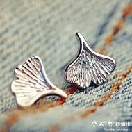 【Sayaka紗彌佳】純銀原創花語系列銀杏葉造型耳環