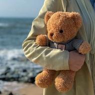 Dora💕海藻絨毛衣泰迪熊絲巾小熊玩偶布娃娃可愛毛絨玩具兒童禮物情人節禮物交換禮物