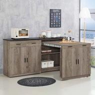 【H&D】古橡木5.3尺石面餐櫃(石面餐櫃 收納櫃 廚櫃 多功能餐櫃 櫃)