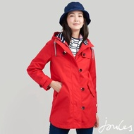 【Joules】女 Coast 中長版 防風 防水外套(紅)