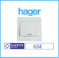 Hager Water Heater Double Pole DP Single Switch 20A with Neon WGML2D1N 1Gang 1Way 2Way