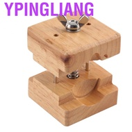 Ypingliang Professional Wooden Watch Case  Block Vise Clamp Movement Wood+Stainless Steel Repair Tool Kits for Wat