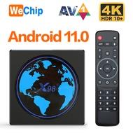 WECHIHP 2021 NEW X98 Mini Smart TV Box Android 11 4GB RAM 64GB 32GB Amlogic S905W2 2.4G/5G Wifi 4K 60fps Set Top Box X98Mini 2GB 16GB vs H96 Max