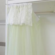 【博億館】可意大學生女寢室宿舍上鋪上下鋪蕾絲簾頭蚊帳【雪蓮-果綠】