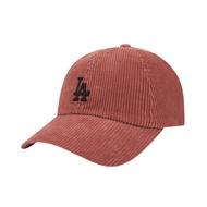 【ScrewCap】八折優惠!! 韓國代購 MLB 洛杉磯道奇LA 立體電繡 燈芯絨材質 橘/黑 環扣 棒球帽 老帽