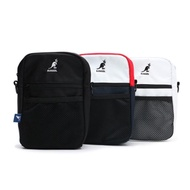 【KANGOL】小方包 肩包 側背 帆布 網格袋 三色 小LOGO 可調式(60253013-)