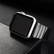 Ceramic Strap Band for Apple Watch Band 44 mm 40mm 42mm 38mm Stainless steel Wrist Band Smart Watch Accessorie for i watch Bracelet for Apple watch series 5 4 3 42 44mm women men
