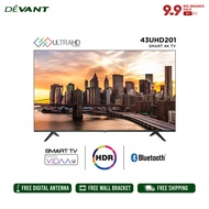 DEVANT 43-inch 43UHD201 Smart 4K TV - Pre-loaded with Netflix, YouTube and Anyview Cast App