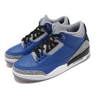 Nike 籃球鞋 Air Jordan 3 Retro 男鞋 經典 喬丹三代 爆裂紋 復刻 球鞋 藍 黑 CT8532400 CT8532-400